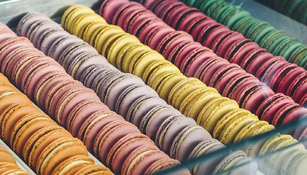 Así lucen los famosos macarons de Moulin Chocolat