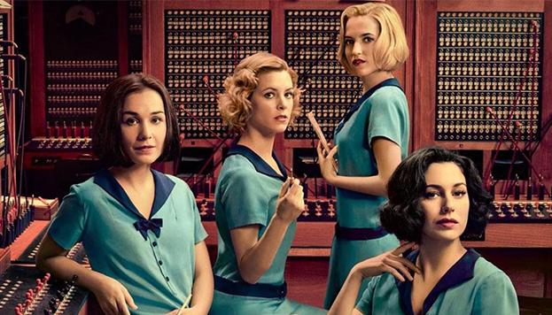 Las chicas del cable trabajan en el Edificio Fundación Telefónica, en la Gran Vía (Foto: Netflix).