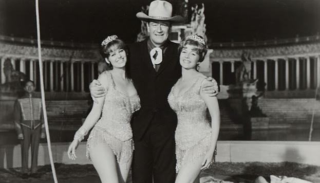 ...Y así se veía en El fabuloso mundo del circo, con John Wayne.