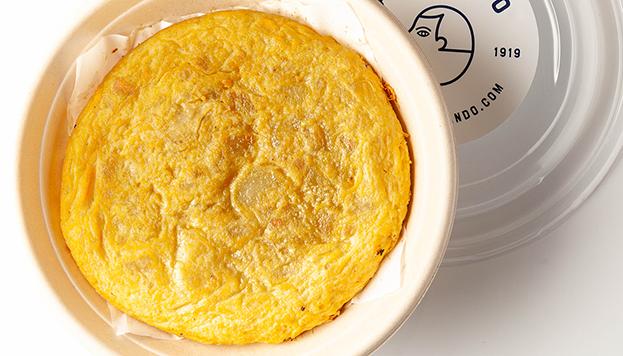 La tortilla es otra de las especialidades del Grupo La Ancha. Hay varias para elegir.
