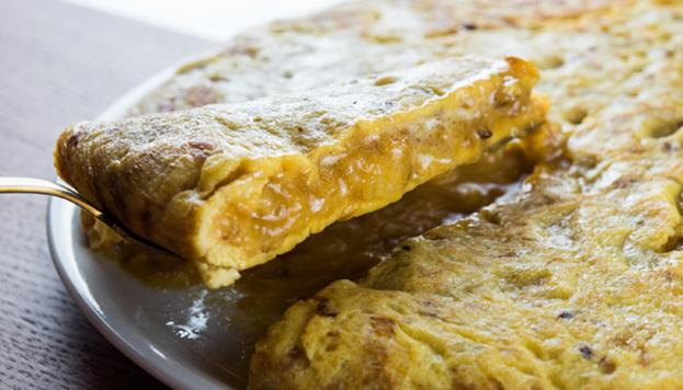 Esta es la pinta que tiene la tortilla de patata de Colósimo. ¡Tienes que probarla!
