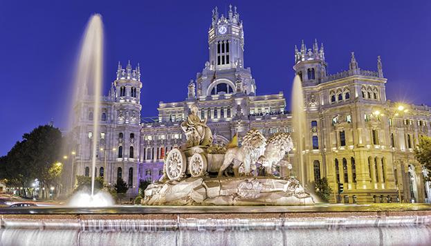 La fuente de la diosa frigia Cibeles es uno de los grandes iconos de Madrid.