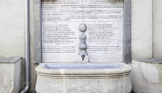 Esta es la fuente de aguas milagrosas, a la que solo se puede acceder durante las fiestas de san Isidro.