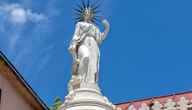 Esta es nuestra castiza Estatua de la Libertad (©Álvaro López del Cerro).