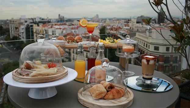 Este es el brunch otoñal que servirá el Hotel H10 Puerta de Alcalá en su terraza.