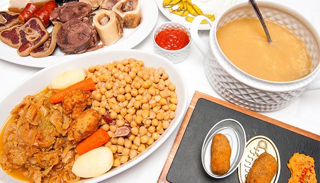 Cocido del restaurante La Clave.