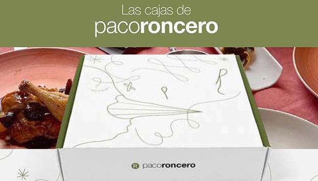 Este es el aspecto de las cajas navideñas de Paco Roncero. Por dentro pueden ser tradicionales o de vanguardia.