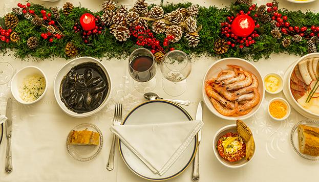 Así puede quedar tu mesa navideña si te apuntas al delivery de Hevia.