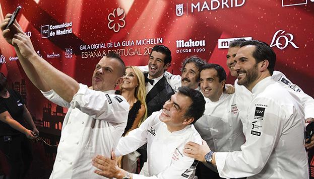 Cocineros de Madrid con estrella en la gala de presentación de la Guía Michelin 2021.