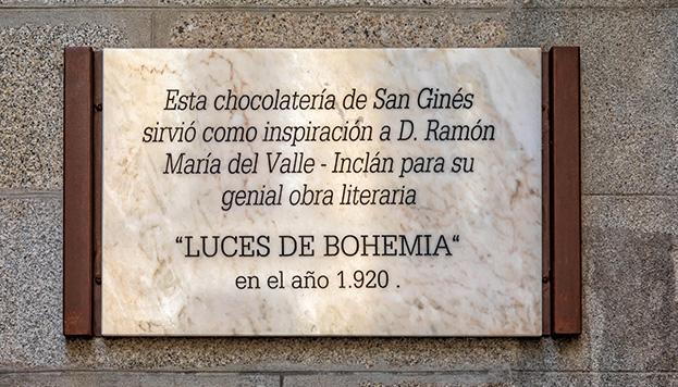 Valle-Inclán encontró en la Chocolatería San Ginés la inspiración (© Álvaro López del Cerro).