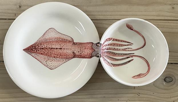 Estos platos llevan la firma de Nuria Blanco.