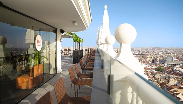 En la Plaza de España, 360º Roof Top Bar