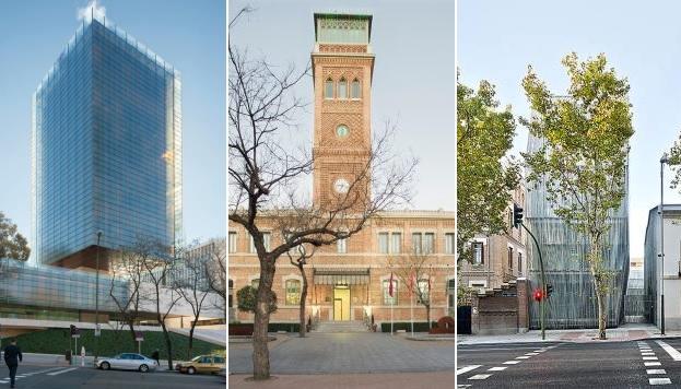 Edificio Castelar, Rafael de la Hoz Arderius. Casa Árabe, Emilio Rodríguez Ayuso. Fundación Giner de los Ríos, AMID.cero9.