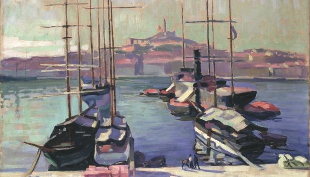 Port de Marseille, Notre-Dame-de-la-Garde, 1904. (Détail) © Charles Camoin. VEGAP, 2016.