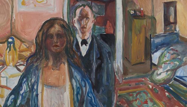 Edvard Munch. Kunstneren og hans modell, 1919-21. (©Munch Museum / Munch-Ellingsen Group / VEGAP, MAdrid, 2015).